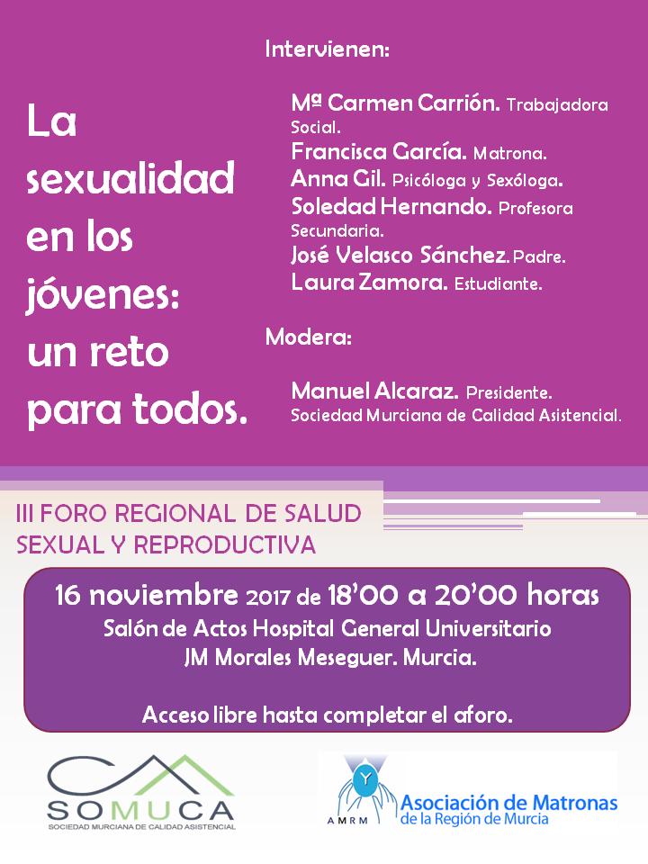 """Foro de Salud Sexual y Reproductiva """"La sexualidad en los jóvenes: un reto para todos"""""""
